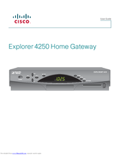 Cisco explorer 4250 manuals cisco explorer 4250 user manual 16 pages home gateway sciox Choice Image