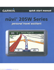 garmin nuvi 205w series quick start manual pdf download rh manualslib com garmin nuvi 205w manual garmin nuvi 205 owner's manual free download
