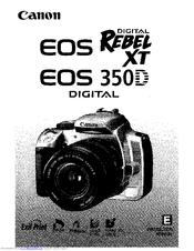 canon eos rebel xt instruction manual pdf download rh manualslib com canon rebel xt user guide canon eos rebel xt user manual