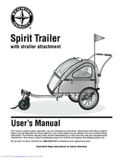 Manuals and User Guides for Schwinn Spirit Trailer. We have 1 Schwinn Spirit Trailer manual available for free PDF download: User Manual