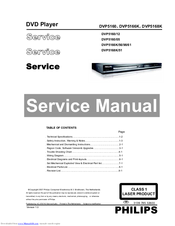 Philips DVP5166K/61 Service Manual