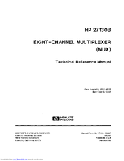HP 271308 Technical Reference Manual