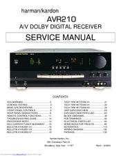 harman kardon nocturne 210 manuals rh manualslib com Harman Kardon AVR 630 harman kardon avr 210 service manual