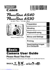 canon powershot a540 manuals rh manualslib com Canon Sd1300is canon powershot a540 user manual