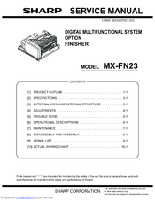 Sharp MX-FN23 Service Manual