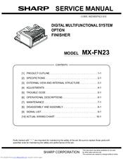 sharp mx 4111n service manual