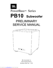 jbl powerbass pb10 manuals rh manualslib com