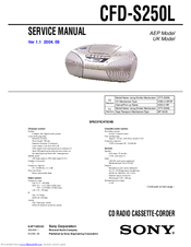 Sony CFD-S250L Service Manual