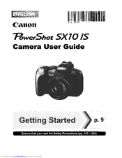 Canon powershot sx10is manual.