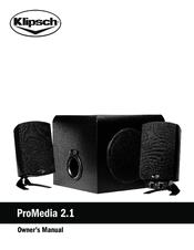 klipsch promedia 2 1 wireless manuals rh manualslib com Klipsch Computer Speakers Klipsch THX Computer