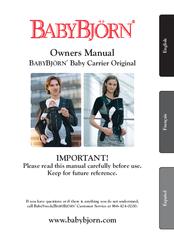 babybjorn baby carrier original manuals rh manualslib com babybjorn one manual babybjorn instruction manual