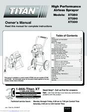 titan xt330 paint sprayer manual