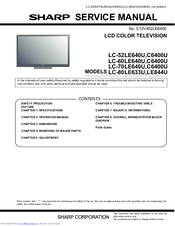 sharp aquos lc 60le640u manuals rh manualslib com Sharp AQUOS LCD TV 27 Sharp AQUOS Flat Screen TV