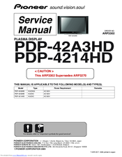Pioneer PDP-4213HD Service Manual