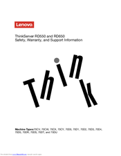 Lenovo Storage N4610 Safety, Warranty, And Support Information