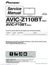 PIONEER AVIC-Z110BT SERVICE MANUAL Pdf Download