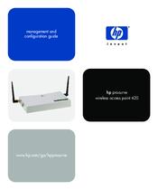 HP PROCURVE 420 MANAGEMENT AND CONFIGURATION MANUAL Pdf