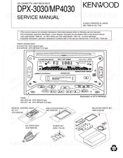 KENWOOD DPX-3030 SERVICE MANUAL Pdf Download. on