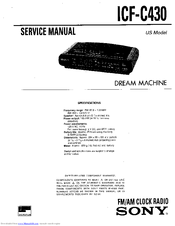 Sony DREAM MACHINE ICF-C430 Service Manual