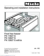 Miele FN 12827 S edt/cs Operating And Installation Instructions