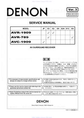 denon avr 789 manuals rh manualslib com denon 789 manual denon avr 789 manual pdf