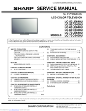 sharp aquos lc 60le640u manuals rh manualslib com Sharp TV 52 Operation Manual Sharp TV Owners Manual