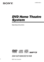 Sony DAV-DZ150K Operating Instructions Manual