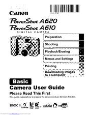 powershot a620 manual