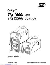 esab cadd tig 2200i ta33 manuals rh manualslib com Bon Scott gysmi tig 180 ac/dc service manual