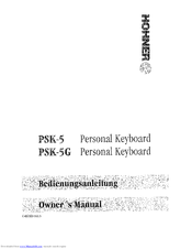 Hohner PSK-5G Owner's Manual