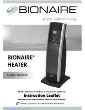 BIONAIRE BCH9208 INSTRUCTION MANUAL Pdf Download