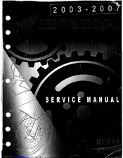Honda 2004 NPS50 Ruckus Service Manual