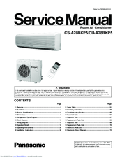 Panasonic CS-A28BKP5 Service Manual