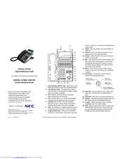 NEC DT330 Quick Reference Card