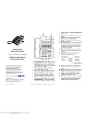 Nec dt300 series Phone manual