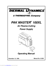 Thermal Dynamics Pak Master 100xl 3339882