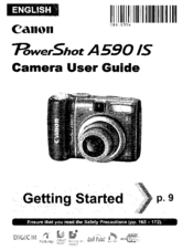 canon powershot a590 is manuals rh manualslib com Canon A590 Problems Canon A590 Wrist Strap
