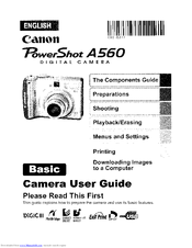 canon a560 instruction manual