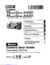 canon powershot a420 manuals rh manualslib com Canon PowerShot User Manual canon powershot a490 manual