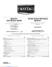 Maytag MEDB850WR - 7.3 cu. Ft. Capacity Electric Dryer Use & Care Manual