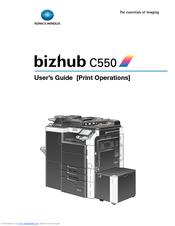 konica minolta bizhub c550 series manuals rh manualslib com konica minolta bizhub c550 service manual konica minolta bizhub c550 parts manual