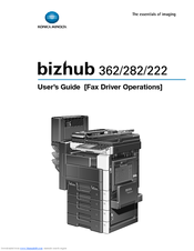 Konica Minolta Bizhub 222 User's Manual