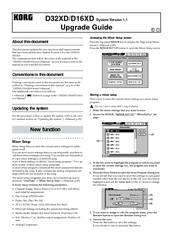 Korg D32XD Upgrade Manual