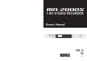 Korg MR-2000S Owner's Manual