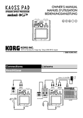 Korg Kaoss Pad miniKP Owner's Manual
