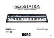 Korg microSTATION Setup Sheet