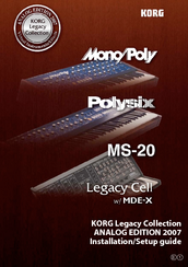 Korg POLYSIX Installation & Setup Manual