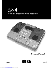 Korg CR-4 Owner's Manual