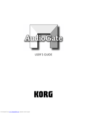 Korg AudioGate User Manual