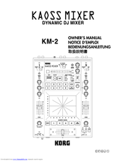 Korg Kaoss Mixer KM-2 Owner's Manual